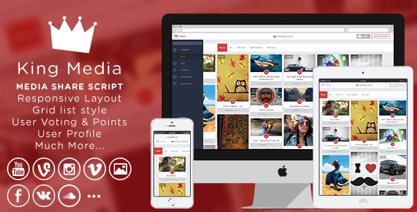 King MEDIA script themeforest 9gag clone 2016