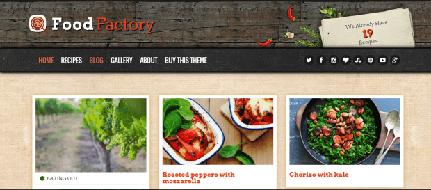 food factory wordpress theme 2016