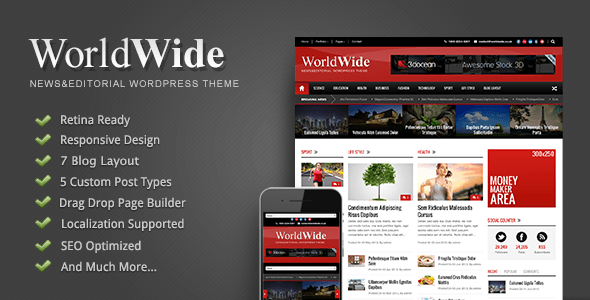 world wide worldwide wordpress theme demo download onlineadrian
