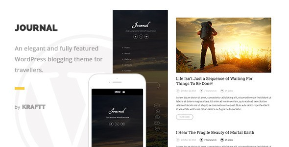 journal wp theme wordpress travel