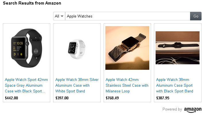 shopping native ads amazon