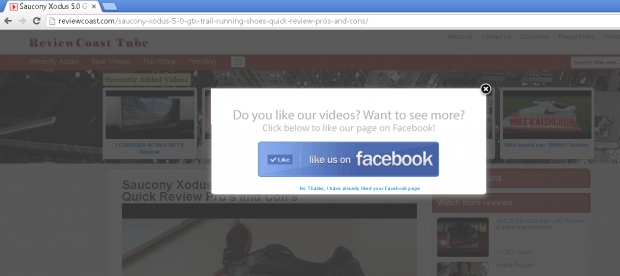 like button popup