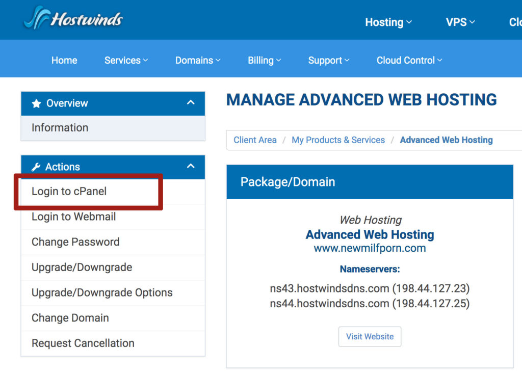 hostwinds how to wordpress 2019