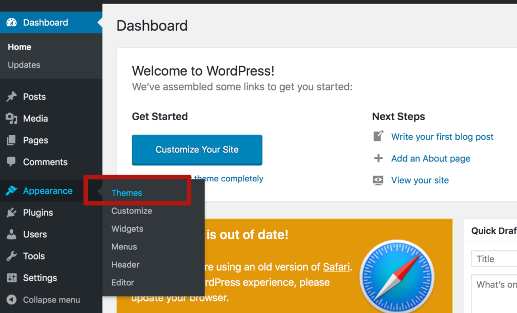 theme wordpress fastcomet hosting upload
