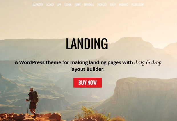 landing wordpress landing page theme
