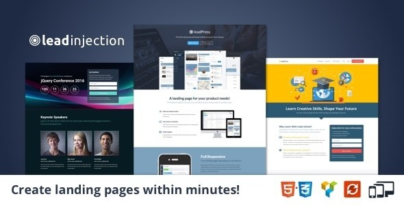 leadinjection wordpress landing page theme