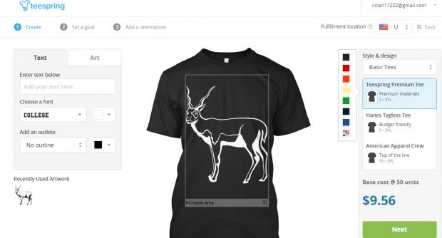 teespring t-shirt print 2016
