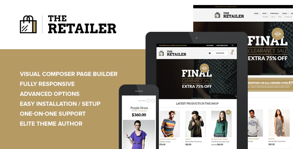 retailer wordpress theme 2016