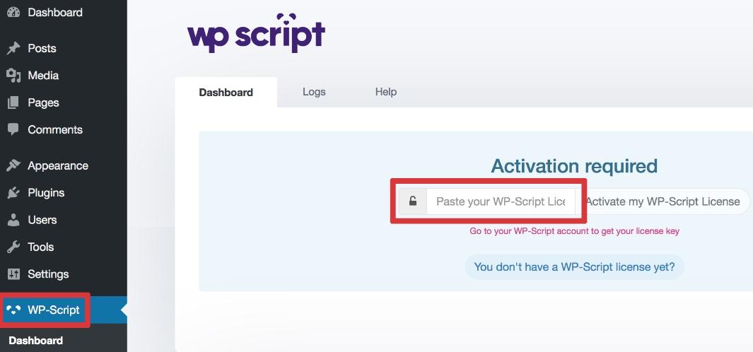 wp script free key